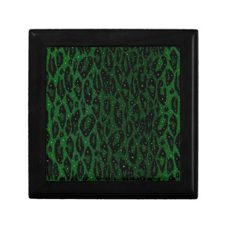 Green Black Cheetah Stars Gift Box