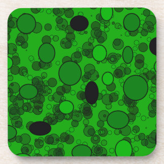 green black circles beverage coaster