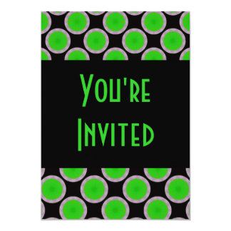 green black circles card