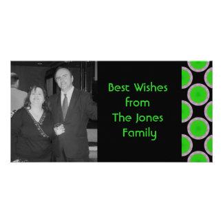 green  black circles card