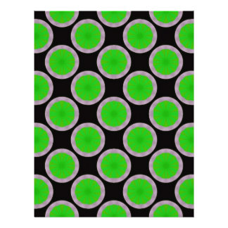 green black circles letterhead