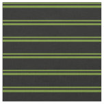 [ Thumbnail: Green & Black Colored Lined Pattern Fabric ]