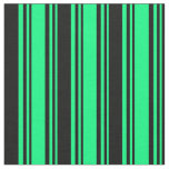 [ Thumbnail: Green & Black Colored Striped/Lined Pattern Fabric ]