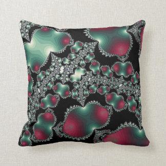 Green Black Design Throw Pillow