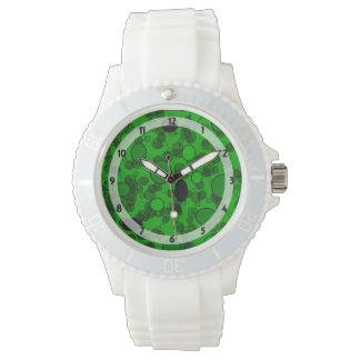 green black dots pattern wristwatch