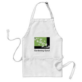 green black flower clematis vine design apron