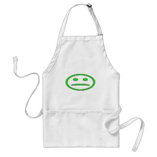 Green & Black Frowny Face Adult Apron
