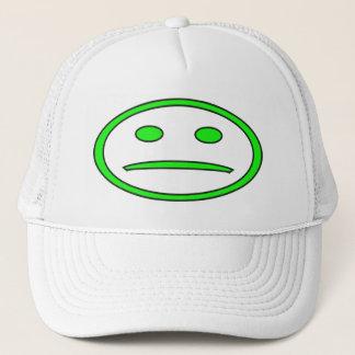 Green & Black Frowny Face Trucker Hat