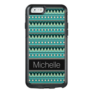 Aztec Themed Green Black Gold Aztec OtterBox iPhone 6 Case