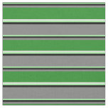 [ Thumbnail: Green, Black, Grey, Forest Green, and Mint Cream Fabric ]