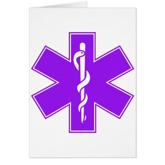 Green Black Grey Purple  Nurse EMS Star of Life Card