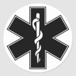 Green Black Grey Purple  Nurse EMS Star of Life Stickers
