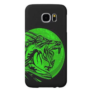 Green black grunge dragon Samsung S6 phone case