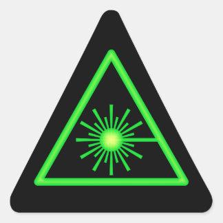 Green & Black Laser Symbol Sticker