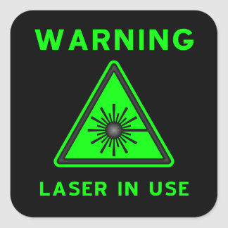 Green & Black Laser Warning Sign Sticker
