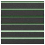[ Thumbnail: Green & Black Lined/Striped Pattern Fabric ]
