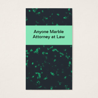 Green black marble business card