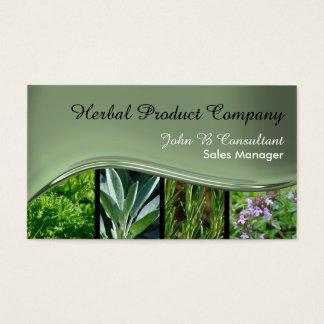 Green black metal effect wave business card