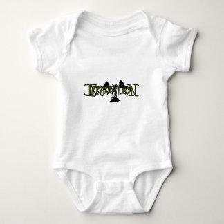 Green, Black Outline Baby Bodysuit