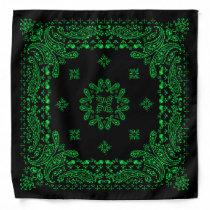 Green & Black Paisley Bandana