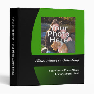 Green/Black Personalized Photo Album Binder