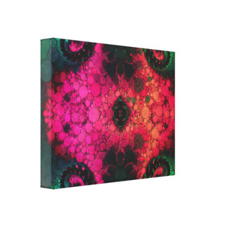 Green Black Pink Abstract Canvas Print