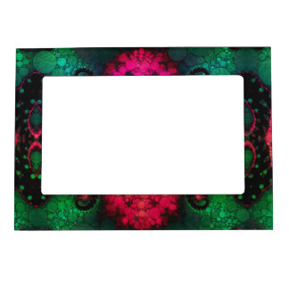 Green Black Pink Abstract Magnetic Photo Frame