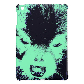Green & Black Pomeranian iPad Mini Covers