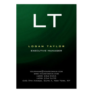 Green Black Professional Modern Vertical Special Large Business Card