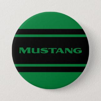 Green Black Race Stripe Muscle Car Button