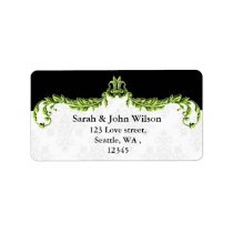 green black return address label