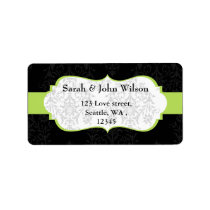 green black  ,return address label