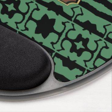 Professional Business Green Black Star Line Business Gel Mousepad