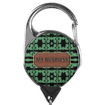 Professional Business Green Black Star Line My Business Badge Holder