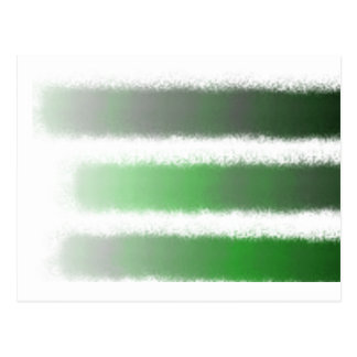 Green Black Stripe Postcard