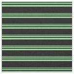[ Thumbnail: Green & Black Striped/Lined Pattern Fabric ]