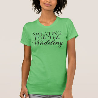Green & Black Sweating For The Wedding. Singlet T-Shirt