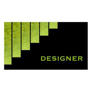 Green, black vertical stripes designer