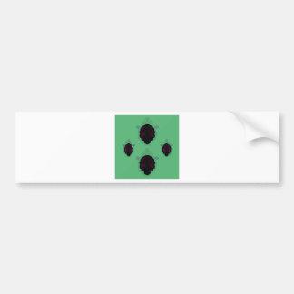 Green black vintage Ornaments Bumper Sticker