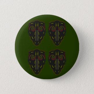 Green black vintage Ornaments Pinback Button