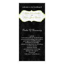 green black Wedding program