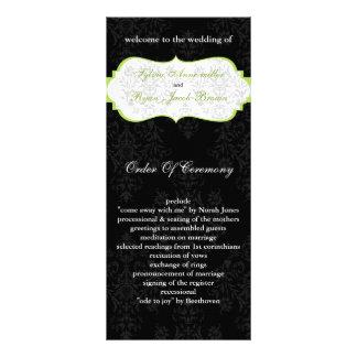 green black Wedding program