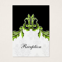 green black wedding Reception Cards