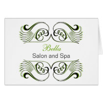green  black & white Chic Business Thank You Cards