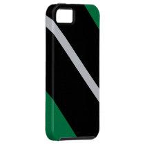 Green Black White-Striped iPhone SE/5/5s Case
