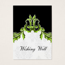 green black wishing well cards