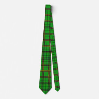 Green Black Yellow Tartan Neck Tie