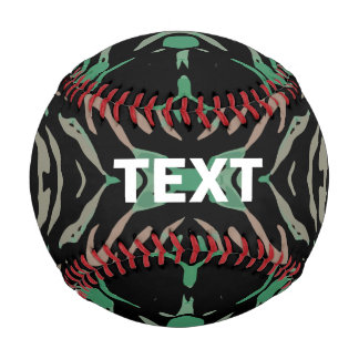Green Black Zebra Baseball