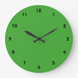 Green Blank Custom Template Large Clock