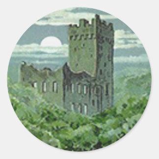 Green Blarney Castle Ireland Classic Round Sticker